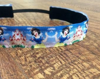 Snow White headband. Princess headband, princess half-marathon, women's snow white, girls snow white, Snow White costume, hair accessories