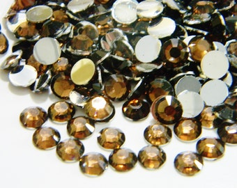 DARK BROWN 1000 Choose Size 2mm/3mm/4mm/5mm Flatback Resin Rhinestones or 200 6mm Faceted Bling ss6/12/16/20/30 High Quality or Nail Art