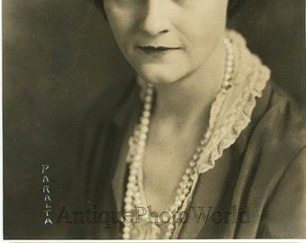 Agnes Detro woman actress antique photo