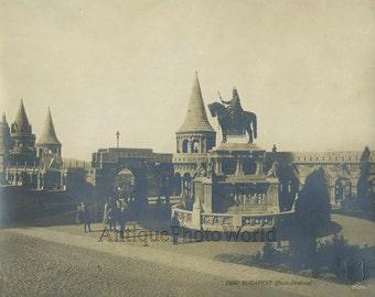 Budapest Hungary square monument antique 1900s photo