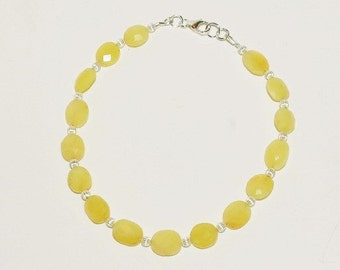 Yellow Opal & Sterling Silver Bracelet - S2370