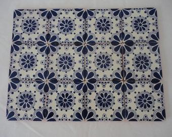 Talavera Ceramic Tiles #3 - Set of 24