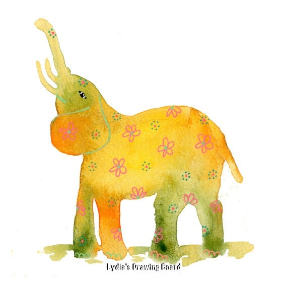 Note Cards, Notecards, Blank Cards, Birthday Card, Elephant Card, Cards, Floral Card, Elephant Art, Elephant Artwork, Elephant Art Print