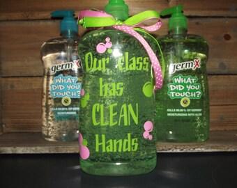 30 oz Personalized Germ X bottles