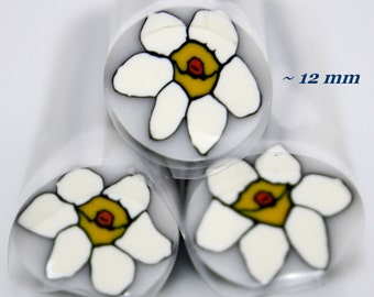 Narcissus flower polymer cane