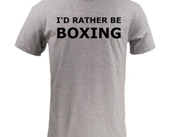 I'd Rather Be Boxing - Sport Grey