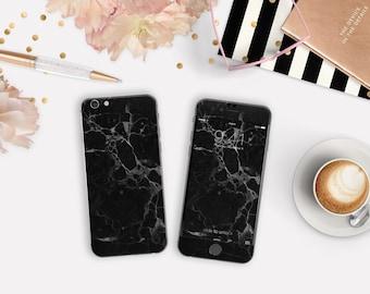 Elegant Black Marble Phone Case / Vinyl Skin for iPhone 6s , iPhone 6s Plus , iPhone 7 , iPhone 7 Plus , Galaxy S7