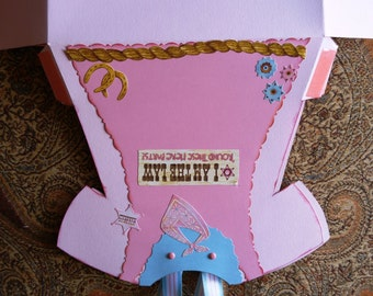 Cowgirl Party Favor Gift Bag - 6 x 9