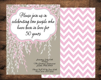 Weeping Willow Tree Invitation