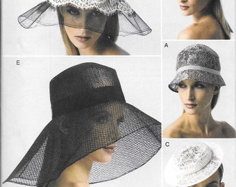 Vogue 8891, Hats Sewing Pattern, New Uncut Pattern for Ladies Hats, Great Wedding Hats,