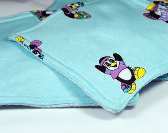 Penquin Wash Cloth -4 Dish Cloth - Baby Wipe - Cleaning Cloth- Dust Cloth 4 Thirsty Layers And OH so Soft 7 1/4 Square