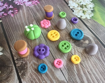 Fondant Sewing Cupcake Topper Cake Decorating Set