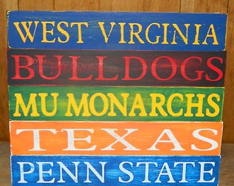 College Wooden Shelf Sitter Signs!! Any College!