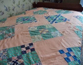 Vintage Orange Quilt To