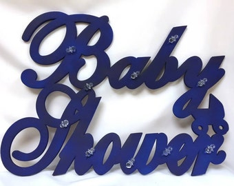 Baby Shower Royal Blue Pacifier Foam Wall or Door Banner Sign