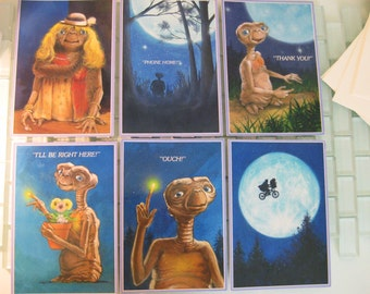 Authentic E.T. Movie Cards Extra Terrestrial Universal Studios copyright 1982 RARE
