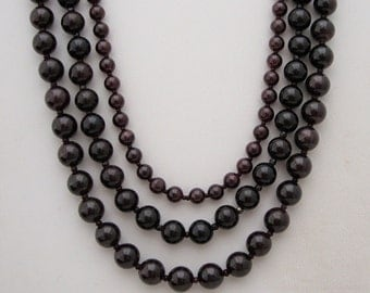 Deep Red GARNET NECKLACE*JANUARY Birthstone