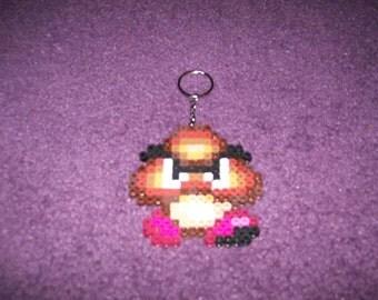 Super Mario Bros Goomba perler sprite