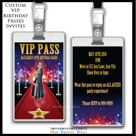 Vip Pass Invitations as luxury invitations example