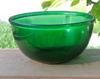 Emerald Green Glass Bowl