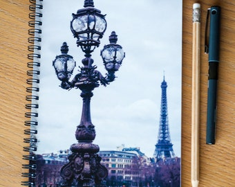 Notebook - A5 - Paris - Eiffel Tower - Photo Stationery - Back to School - Ideal Gift