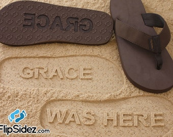 Custom Name Flip Flops Sand Imprint Personalized