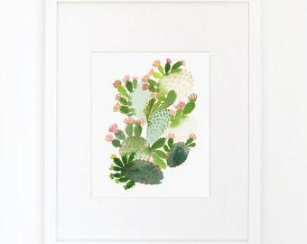 Cactus No. 2 - Watercolor Art Print