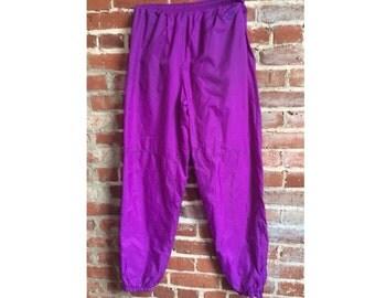 Nike Pants Vintage NIKE Grey Tag Pants Neon Purple Sweats Jogging Pants Workout / Running Sweats Sweatpants