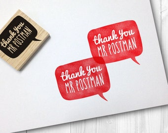thank you mr postman rubber stamp - FREE SHIPPING WORLDWIDE*