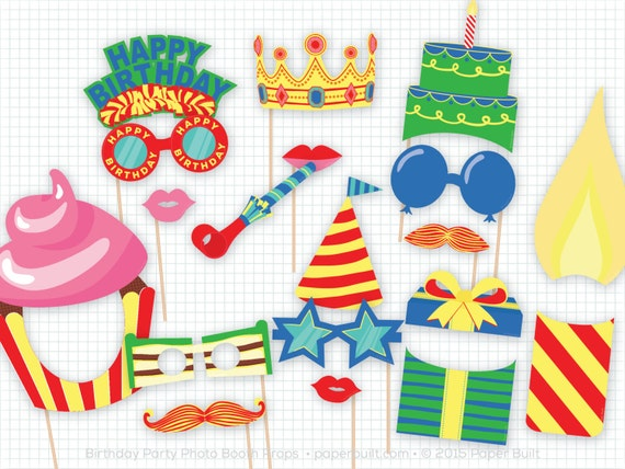 Birthday Party Photo Booth Props Photobooth Props Boy