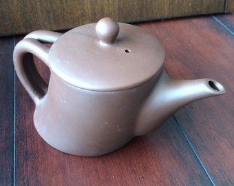 Purple Clay Teapot, Asymetrical Teapot, Chinese Teapot, Small Teapot, Leaning Teapot, Whimsical Teapot, Hand Made teapot