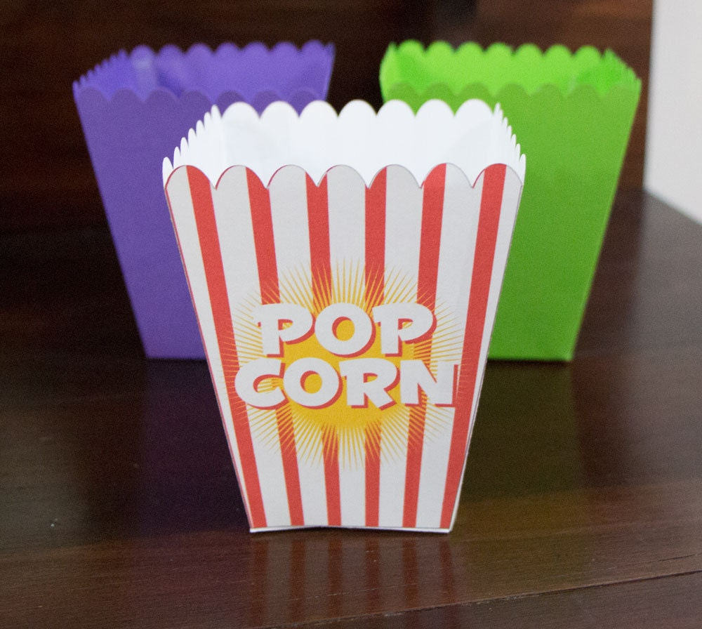 svg cut files - popcorn and pjs movie night popcorn box
