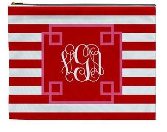 Personalized Large cosmetic bag - Monogram