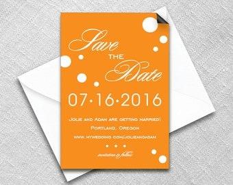 Save the Date Magnet + Envelope - Wedding magnets - Burst Design