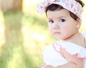 Ice Cream Cones Baby girl topknot bow