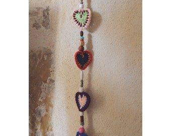 """During """"sweet heart boho"""" 4 cores on the hook"""