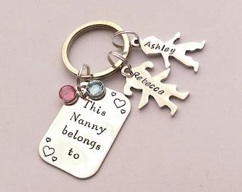 Personalised Nanny gift - personalized Nanny keychain gift - This Nanny belongs to - personalised Grandma Nan Nana Nanna present gift