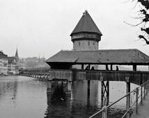 Chapel Bridge & Water Tower, Lucerne Switzerland