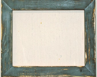 "1-1/2"" Steel Blue Distressed Picture Frame"