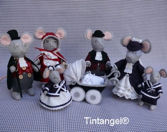 The whole Family of Mice Meadows - DOY kits