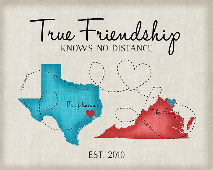 Going away gifts moving gift for friends long distance friend going away gifts moving gift for friends long distance friend quote map moving out of state another country texas virginia wf1 negle Images