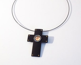 Latin Cross Gothic style handmade necklace