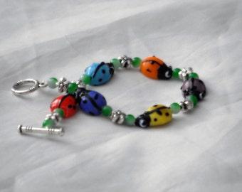 Ladybird Rainbow Bracelet