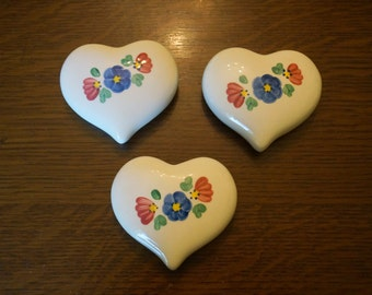 Vintage Ceramic Heart with Flowers