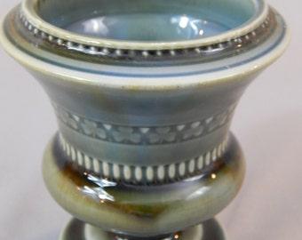 Vintage Wade Footed Vase with Shamrocks, Wade Porcelain, Made in Ireland
