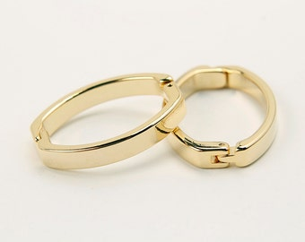 Scarf ring, G36-G1, 5 pcs, Scarf ring, 26x19mm, 16K gold plated brass, Not easily tarnish, R33-01