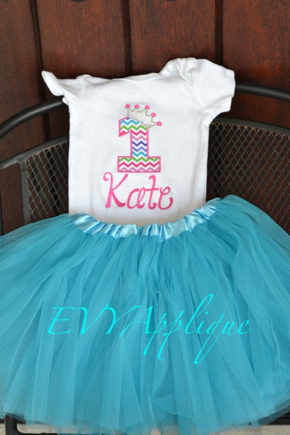 Pink and Aqua Princess birthday outfit - pink/turquoise - princess 1st birthday 2nd birthday 3rd birthday 4th birthday shirt - birthday tutu