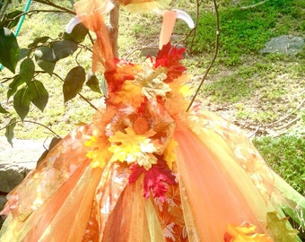 Fall festival Tutu- Perfect for: Pageant, Outfit of Choice Special occasion, photo shoot, dress-up play