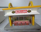 Vintage NEW IN Original Box 1996 McMemories Restaurant Lighted Restaurant for McDonalds memborabilia Collectors, Night Light, Gift Giving
