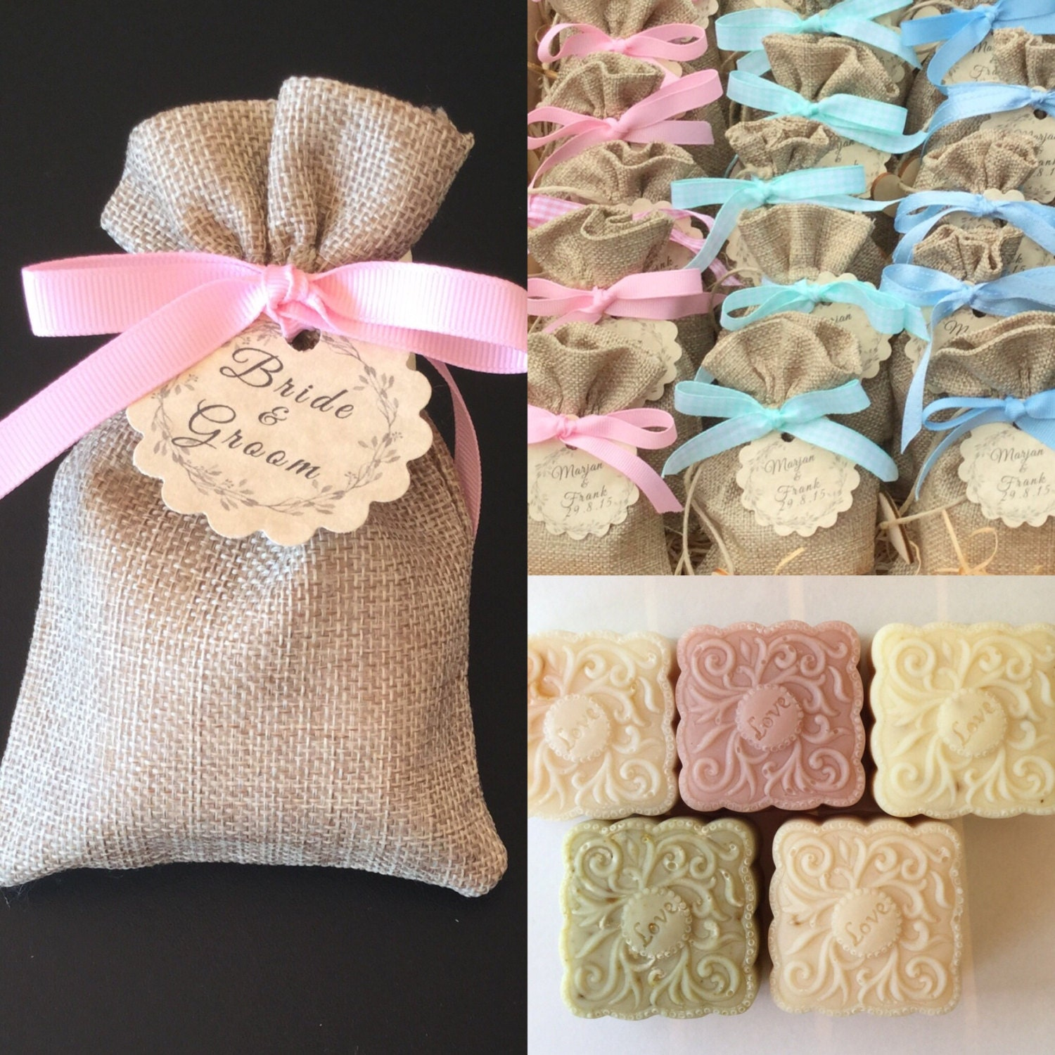 weddings20 soaps in burlap bagswedding favors baby shower